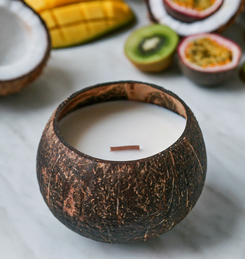 Luxury Coconut Candle - TROPICAL FRUIT scent