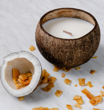Luxury Coconut Candle - ROASTED COCONUT scent