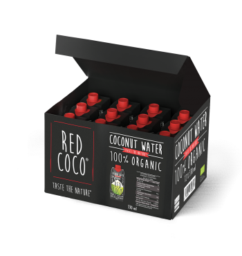 REDCOCO Organic Coconut water - 12pack